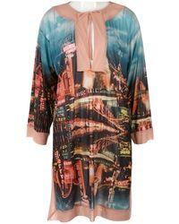 Jean Paul Gaultier - Pink Synthetic Dress - Lyst