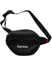 642d83a2 Supreme Leopard Fleece Waistbag in Black for Men - Lyst