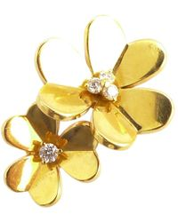 Van Cleef & Arpels - Pre-owned Bagues Entre Les Doigts Yellow Gold Ring - Lyst