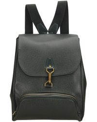 Louis Vuitton - Pre-owned Vintage Green Leather Backpacks - Lyst 1866c068352