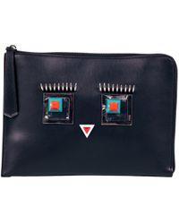 Fendi Triplette Black Leather