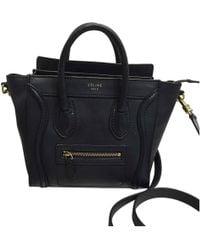 Céline - Nano Luggage Leather Crossbody Bag - Lyst