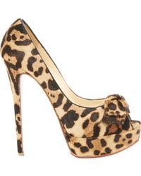 Christian Louboutin | Pre-owned Pony-style Calfskin Heels | Lyst