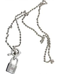 Hermès - Silver Necklace - Lyst