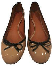 617d97b6254 Lyst - Céline Céline Soft Ballerina Flats in Green