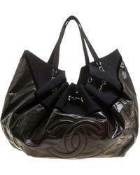 b65399ed4fea Chanel Coco Cabas Blue Denim - Jeans Handbag in Blue - Lyst