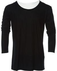 db113dab Balmain - Black Cotton T-shirts - Lyst