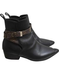 Louis Vuitton - Pre-owned Leather Ankle Boots - Lyst