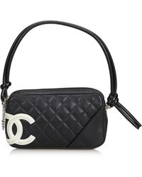 e1ff6183a1ee Lyst - Chanel Cambon Ligne Shoulder Bag Quilted Calfskin Leather ...