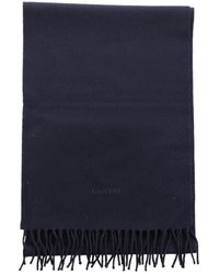 Lanvin - Wool Scarf & Pocket Square - Lyst