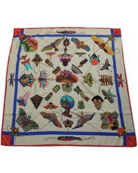 Hermès - Vintage Carré 90 Multicolour Silk Silk Handkerchief - Lyst