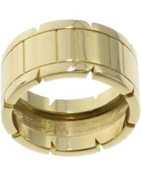 Cartier - Pre-owned Vintage Tank Française Gold Yellow Gold Ring - Lyst