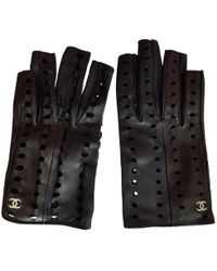 Chanel - Pre-owned Leather Mittens - Lyst