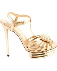 Roger Vivier - Pre-owned Leather Sandals - Lyst