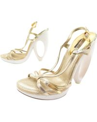 Louis Vuitton - Pre-owned Leather Sandals - Lyst