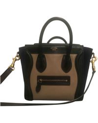 Céline - Pre-owned Nano Luggage Leather Handbag - Lyst