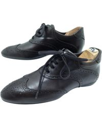 413111cceaa Lyst - Louis Vuitton Leather Shoes Black 35 1 2 in Black for Men