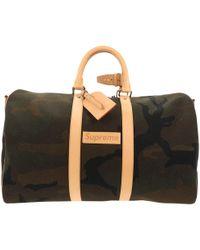 Louis Vuitton - Keepall Green Cloth - Lyst