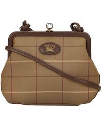 65200180c094 Lyst - Burberry Pre-owned Handbag in Brown