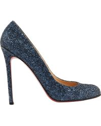 Christian Louboutin - Pre-owned Glitter Heels - Lyst
