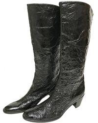 Helmut Lang - Black Patent Leather Boots - Lyst