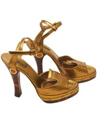 Louis Vuitton - Pre-owned Exotic Leathers Sandals - Lyst