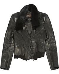 02fb08869dcde Just Cavalli Ruffle Military Jacket in Brown - Lyst