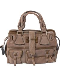 Chloé - Beige Leather Handbag - Lyst
