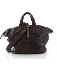 e9b835f456df Givenchy - Pre-owned Nightingale Purple Leather Handbags - Lyst