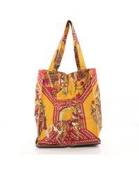 1b9e8b931ec6 Hermès Pre-owned Silky Pop Silk Handbag - Lyst