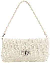 64a7099b36c Lyst - Miu Miu Pre-owned Leather Clutch Bag in Natural