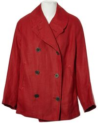 Hermès - Orange Linen Jacket - Lyst