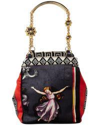 32fbcbf609 Lyst - Versace Tasselled Printed Velvet Bag in Red