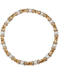 BVLGARI - Pre-owned Vintage Doppio Other Yellow Gold Long Necklaces - Lyst