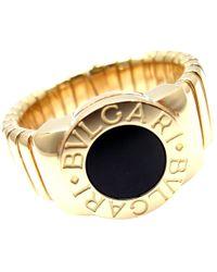 bvlgari yellow gold ring lyst