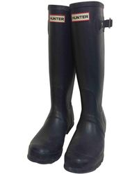 HUNTER - Blue Rubber Boot - Lyst