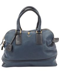 Céline - Pre-owned Leather Bowling Bag - Lyst