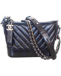 8a984cb46ffe72 Lyst - Chanel Gabrielle Black Leather Handbag in Black