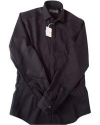 Ferragamo - Black Wool Shirts - Lyst