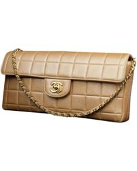 Chanel - East West Chocolate Bar Leather Handbag - Lyst
