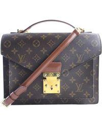 Louis Vuitton - Pre-owned Monceau Cloth Crossbody Bag - Lyst