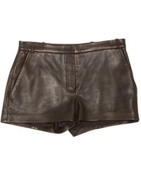 JOSEPH - Leather Mini Short - Lyst
