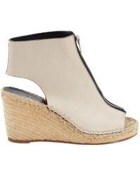 Céline - Beige Leather Sandals - Lyst