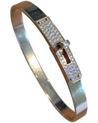 Hermès - Kelly Pink Gold Bracelet - Lyst