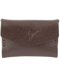 Giuseppe Zanotti - Brown Leather Purses, Wallets & Cases - Lyst