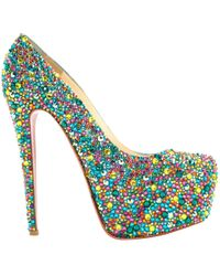 Christian Louboutin - Pre-owned Daffodile Glitter Heels - Lyst