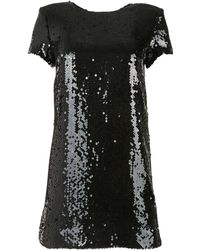 Chanel - Black Polyester Dress - Lyst