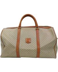 Céline - Vintage Beige Cloth Travel Bag - Lyst