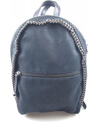 Stella McCartney - Falabella Blue Synthetic Backpacks - Lyst