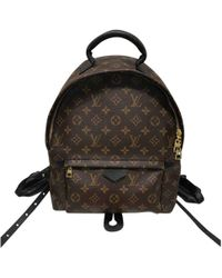 Louis Vuitton - Palm Springs Brown Leather Backpacks - Lyst